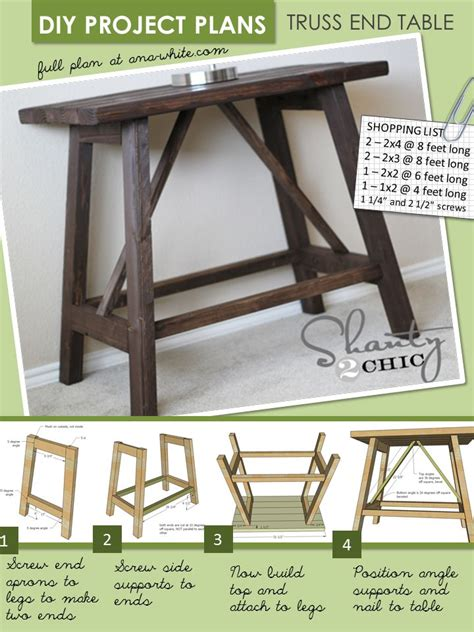 free sofa table plans free easy sofa table plans woodworking projects plans