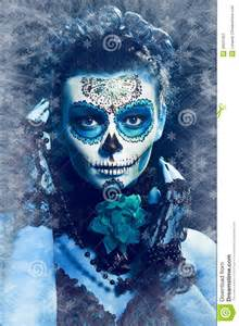 winter make up sugar skull stock image image 36037051