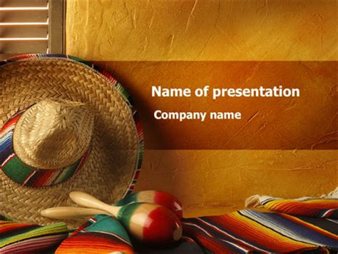 tour to mexico powerpoint template backgrounds 09608
