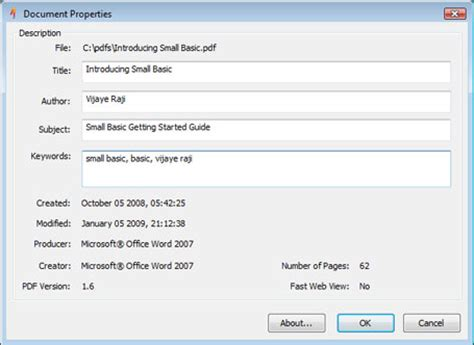 How To Edit Document Properties In Pdf
