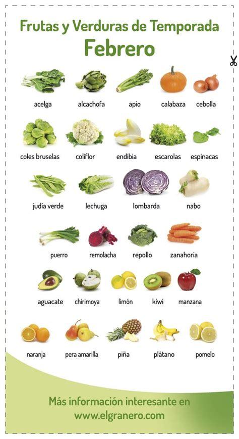 lo que no sab 237 calendario de frutas y verduras de temporadajpg calendario de frutas y verduras de temporada en