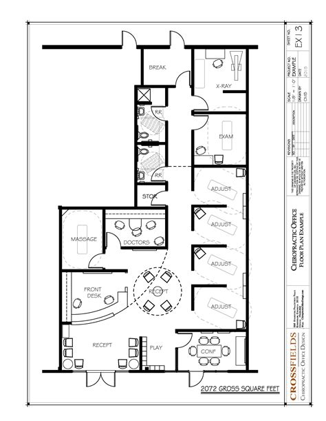 office design floor plans chiropractic office floor plan multi doctor semi open adjusting 2072 gross sq ft http www