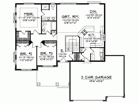 ranch open floor plans eplans ranch house plan open floor plan 1664 square and 3 bedrooms from eplans house