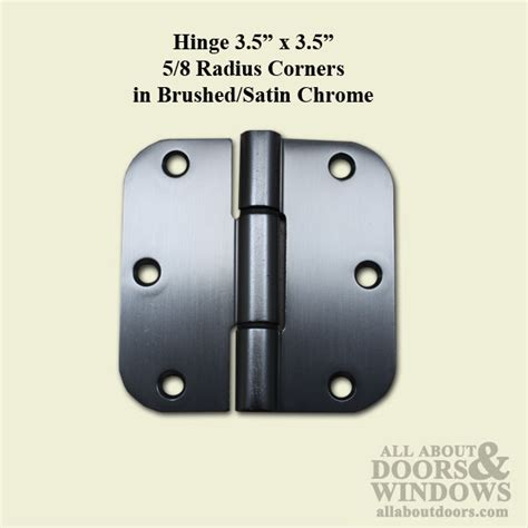 Patio Door Hinges Hinge Pella 3 5 X 3 5 Radius Corner Doors 2001 2007 Brushed Satin Chrome