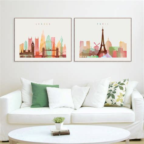 minimalist wall decor aliexpress com buy london paris new york paintings