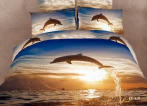 cotton bed linen brown dolphin bedding set quilt duvet