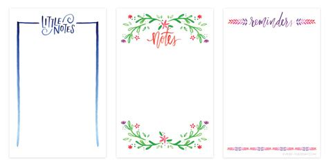 printable note cards pdf freebie 3 watercolor notecard printables every tuesday