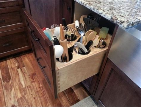 kitchen utensils storage cabinet 65 ingenious kitchen organization tips and storage ideas