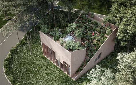 yin yang house gorgeous roof garden feeds owners in proposed off grid yin yang house inhabitat