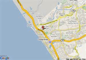 where is oceanside california on a map map of ramada limited oceanside oceanside