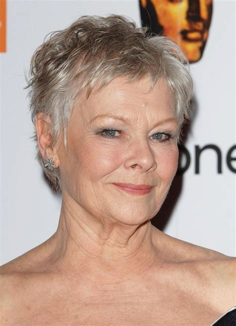 pixiehair over 50 judi dench short pixie cut for women over 50 pretty designs
