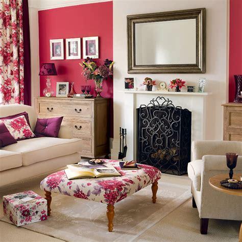 Floral Living Room Coral Floral Living Room