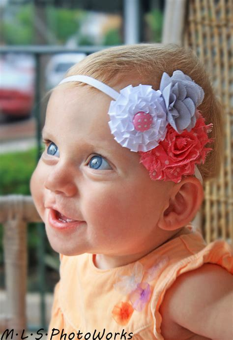 items similar to pink and white headband baby flower items similar to the pink and white baby headband