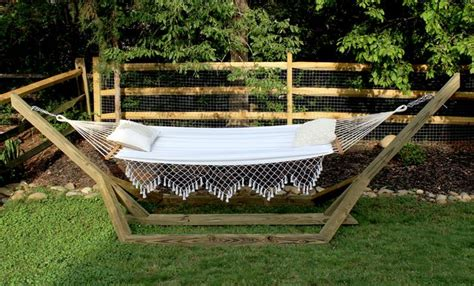 how to make a free standing hammock stand ehow
