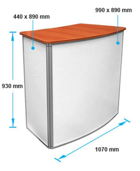 item display dimensions promotional display convex counter 166 slimline warehouse