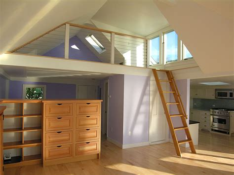 Low Ceiling Loft Conversion by Deborah Paine Cape Cod Custom Home Builder And
