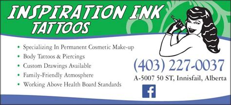 inspiration tattoo innisfail inspiration ink tattoos accessories opening hours 1