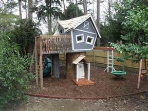 Backyard Playground Equipment Plans Crooked Treehouse Superior Play Enchanted Creations