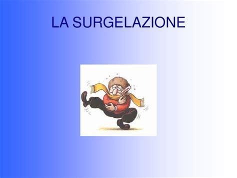 surgelazione degli alimenti la surgelazione