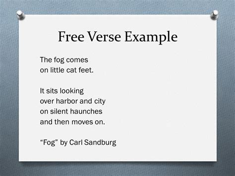 Free Verse Exle 28 Images Poetry Unit Ppt Video Online Download