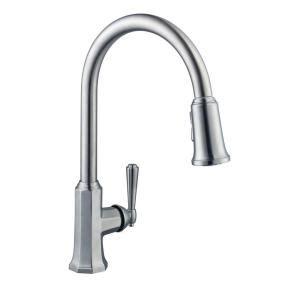 moen kitchen faucets brushed nickel pegasus kitchen pegasus sentio single handle pull down sprayer kitchen