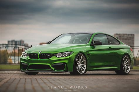 green bmw m4 java green bmw m4 with hre p104 wheels