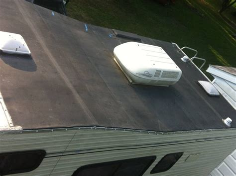 an epdm or rubber roof looks and feels like a rv net open roads forum is my roof an epdm roof pic