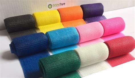 cast of color of 4 inch orthotape fiberglass 1roll orthotape