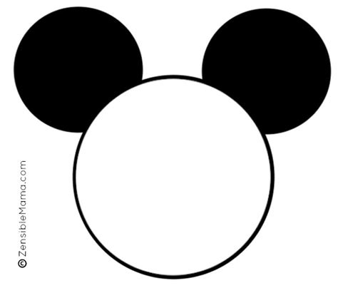template mickey mouse 8 best images of free printable template mickey mouse