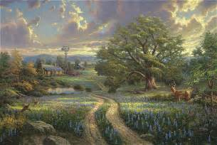 Country Living by Thomas Kinkade Painting Country Living
