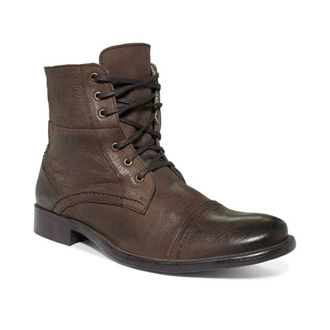 hush puppy boots hush puppies brock cap toe boots in brown for lyst