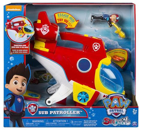 paw patrol orange boat drive fly and dive with spin master s paw patrol sub