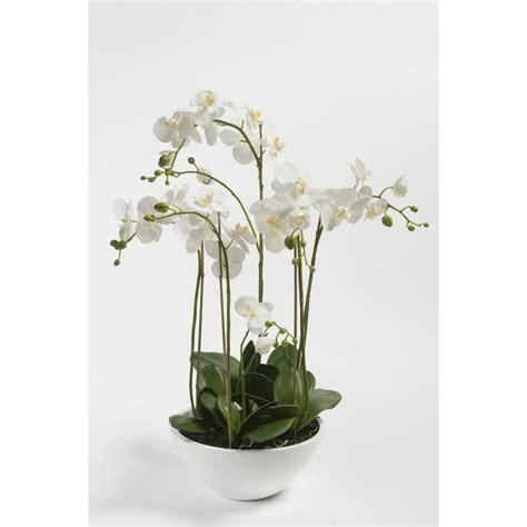 composition phalaenopsis orchidee artificielle en pot 90 cm blanc orchid 233 es en pot ou en motte