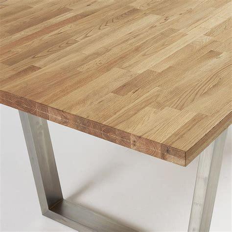 tavolo acciaio tavolo in legno e acciaio inox leo 200x100 cm