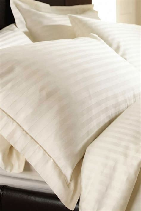 sateen bed sheets sateen stripe cream fitted sheet single shoplinens ie