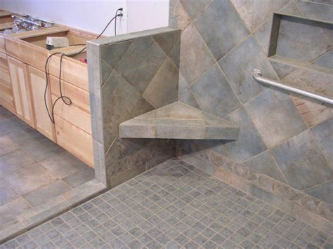tiled shower with bench better bench westside tile and stone