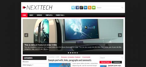 nexttech wordpress template cool blog templates