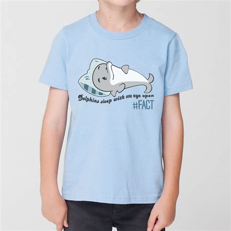 The Dolphin S S T Shirt dolphins sleep with one eye open t shirt the fact shop