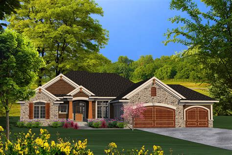 floor palns ranch house plan with craftsman detailing 89939ah architectural designs house plans