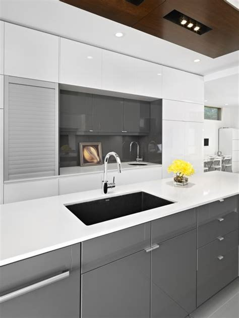 Grey Gloss Kitchen Cabinets ikea gloss grey cabinets home design ideas pictures