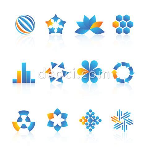 12 vector technology company logo design templates