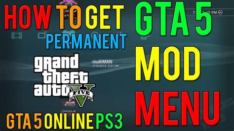 mod gta 5 tutorial gta 5 online how to get permanent mod menu ps3 gta 5