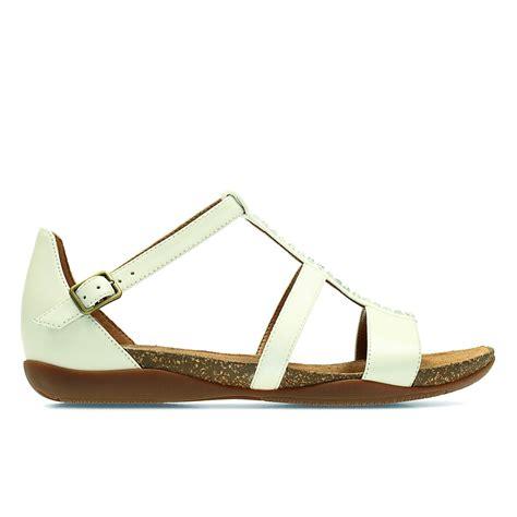 clarks white sandals clarks womens autumn fresh white leather closed heel sandals