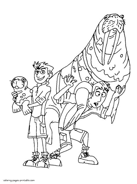 coloring pages kratts kratts brothers and the walruses
