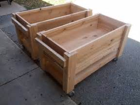 diy raised planter boxes on wheels diy