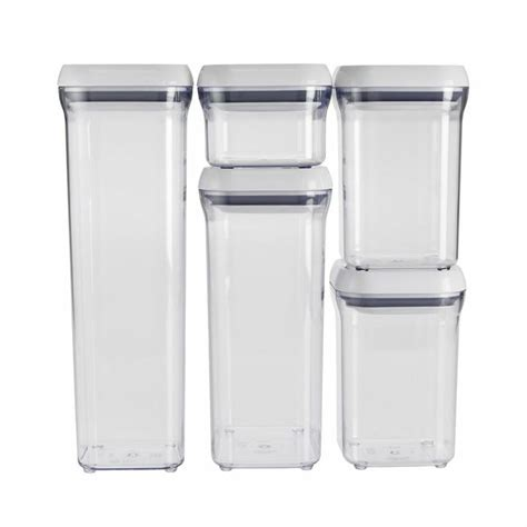 oxo storage containers oxo 5 white container set food storage containers