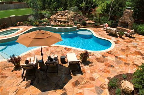 Inground Pool Deck Which To Choose Backyard Design Ideas Inground Swimming Pool Designs Ideas