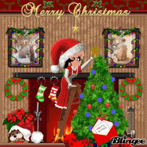 merry christmas  betty boop picture  blingeecom