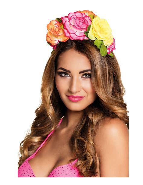 co de fiore cerchietto co fiori di stoffa colorati per donna