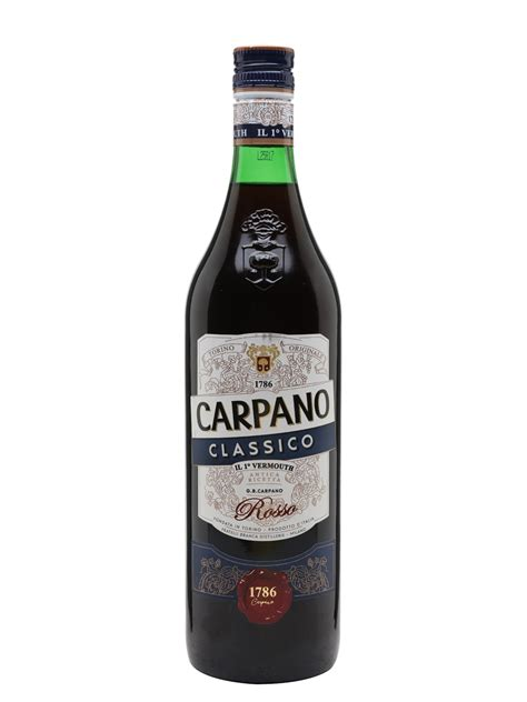 carpano vermouth carpano classico vermouth litre the whisky exchange